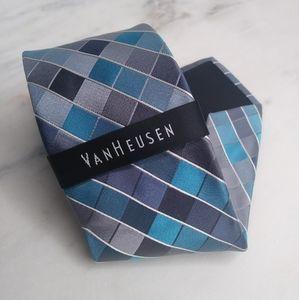 🆕Van Heusen Blue Striped Geometric Tie